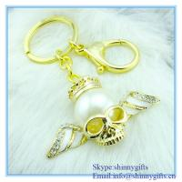 Buy cheap Shinny Gifts handmade Person cranial head shape metal key chain from wholesalers
