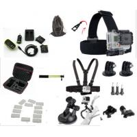 Quality Sport Camera Kit GoPro HERO 4 Accessories Carrying Case , Battery All In One Bundle for sale