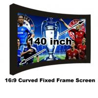 Buy cheap Professional HD Cinema Projection Screen 140 Inch Curved Fixed Frame Projector Screen 3D from wholesalers
