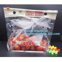 Buy cheap Perforated bag grape bag with air holes, fresh fruit stand up ziplock bag for cherry, OEM zip top Clear BOPP Laminated f from wholesalers