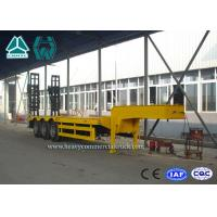 Buy cheap High Performance Steel Low Bed Trailer 3 Axle With Hydraulic Ladder from wholesalers