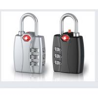 Buy cheap New Design Red Indicator Function Travel Luggage lock&66.5g Tsa Lock with 3-dial&12011 zinc alloy combination lock from wholesalers
