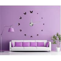 Buy cheap 3D Modern EVA Butterfly Wall Sticker Clock,Non-Toxic Decals 12S001 from wholesalers