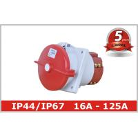Buy cheap Outdoor IP67 Industrial Receptacles with Angled Panel Mounted from wholesalers