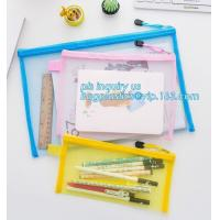 Buy cheap Office Stationery Mesh Bags With Slider Zipper, expanding file/folder/File cover/documents pouch carry bag from wholesalers