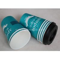 Buy cheap Take Away Disposable Paper Coffee Cups Custom Printed Single / Double PE Coated product
