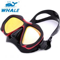 Buy cheap Red Womens Dive Mask , Professional Diving Goggles With POM Material Side Button from wholesalers