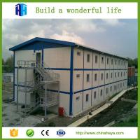 Buy cheap Low cost light steel frame prefab camp construction site accommodation house from wholesalers
