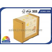 Buy cheap Custom Print Label Corrugated Kraft Mailing Box E Flute Brown Corrugated Mailer from wholesalers