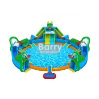 Buy cheap 30 * 20 M Hawaii Themed Mini Inflatable Water Park With Big Swimming Pool from wholesalers