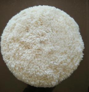 China Australian lambskin wool bonnet/car wool polishing pad/wool buffing pad on sale