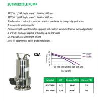 Buy cheap SUBMERSIBLE PUMP SSC370 SSC550 product