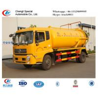 China dongfeng tianjin 4*2 LHD sewage suction truck for sale, Factory sale best price dongfeng 8m3 vacuum sludge tank truck on sale