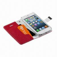 Buy cheap PU Leather Cases for iPhone 5, Various Colors are Available from wholesalers