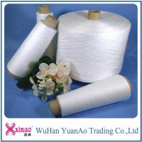 Buy cheap Raw White Ring Spun Polyester Yarn 100% Polyester Twist Sewing Thread High Strength from wholesalers