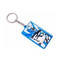 China Reusable Promotional PVC Keyrings , Custom Logo Keychains Easy To Carry on sale