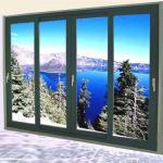 Buy cheap Aluminum Double Sliding Glazed Doors / Tea Glass Double Slider Patio Doors from wholesalers