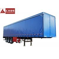 Buy cheap Blue Color Curtain Side Flatbed PVC Tarpaulin High Strength Steel Structure High Strength Cord Fabric from wholesalers