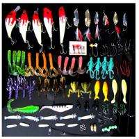 Buy cheap 100pcs/lot Kinds of Fishing Lures Crankbaits Hooks Minnow Bass Baits Tackle+Box from wholesalers