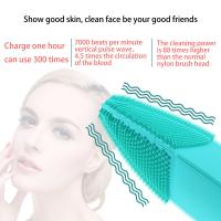 Buy cheap High Frequenc Exfoliating Silicone Skin Brush Food Grade Material 6000rpm from wholesalers