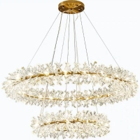 Buy cheap Modern Diameter 80cm Height 30cm Round Hanging Crystal Chandelier from wholesalers