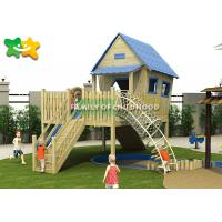 Buy cheap LLDPE Wooden Playground Slide , Garden Swing Slide Wooden Plastic Parts Components from wholesalers