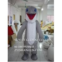 Buy cheap movable grey dolphin mascot costume/customized fur sea animal mascot costume from wholesalers