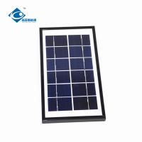 Buy cheap 6V 4W aluminum frame Glass Laminated Solar Panel ZW-4W-6V-2 high efficient solar panel from wholesalers