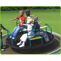 Buy cheap Carousel Model Outdoor Recreational Facilities C Shape With Fitness Seat Turntable from wholesalers