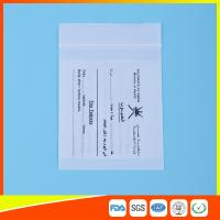 Buy cheap Dust Proof Transparent Zip Lock Bag For Pill Packaging , Disposable Pill Pouches from wholesalers