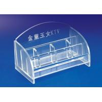 Buy cheap 5mm Clear Simple Acrylic Stationery Holder For Office With Notes Box from wholesalers