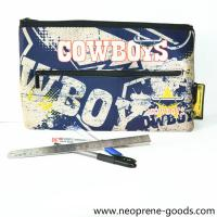 Buy cheap Factory wholesale stationery bag office supplies pouch SBR neoprene pencil case from wholesalers