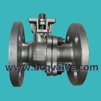 Buy cheap JIS (KS)10K stainless steel flanged 2-PC ball valve with mounting pad from wholesalers