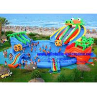 Buy cheap Giant Dragon Water Slide Inflatable Water Park With Commercial Swimming Pool from wholesalers