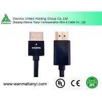 Buy cheap Support 1080p 4K*2K Nickel Plated A Male TO A Male Slim HDMI Cable product