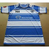 Buy cheap Fashion Cotton Blue And White Striped Rugby Shirt with Customized Sizes from wholesalers