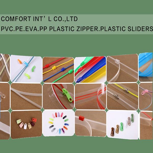 Buy cheap Garments Accessories PVC PE EVA PP Transparent Plastic Zipper Plastic Sliders from wholesalers