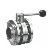 Buy cheap Sanitary Stainless Steel 3PCS Butterfly Valve welding type with Plastic Gripper Handle from wholesalers