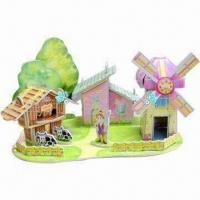 Buy cheap 3D Puzzle with Full Color Printing in High Quality Paper and Foam from wholesalers