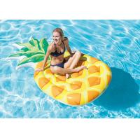 Buy cheap Water Park Pineapple Blow Up Pool Floats / Inflatable Floating Mat  85 X 49 from wholesalers