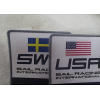 Buy cheap Double Side Polyester Custom Cloth Patches Garment Barcode Printing Label from wholesalers