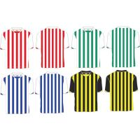 Buy cheap Custom Polyester Striped Soccer Jersey, Person Football Shirt ,Quickly Dry Football Shirts from wholesalers