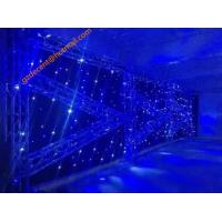 Buy cheap Flexible LED Curtain Led Backdrops LED Curtain Wall for Stage Customized Sizes Warm White Color from wholesalers
