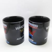 Buy cheap Custom Logo Printed Black Ceramic Magic Cup Color Changing Magic Mugs from wholesalers