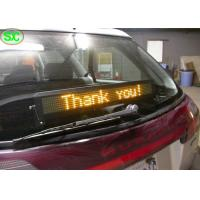 Buy cheap Single Red Color Car LED Sign Display With Meanwell Power Supply , High Definition from wholesalers