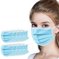 Buy cheap Sterilized Medical Antibacterial Face Mask 3 Layer Surgical Mask Dust Pollution from wholesalers