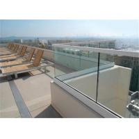 Buy cheap Modern design U channel glass railing balustrade deck / balcony / staircase railing from wholesalers