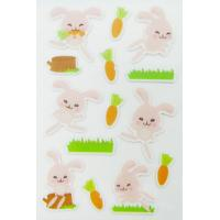 Buy cheap Rabbit Shape Puffy Animal Stickers For Scrapbooking With Rotary Printing from wholesalers