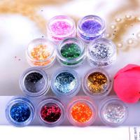 Buy cheap Colorful Holographic Glitter Powder Acrylic Nail Tip Decoration product