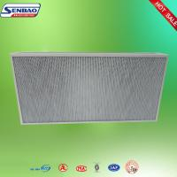 Buy cheap Deep Pleated High Performance Air Filters Ceiling Aluminum Alloy Frame from wholesalers